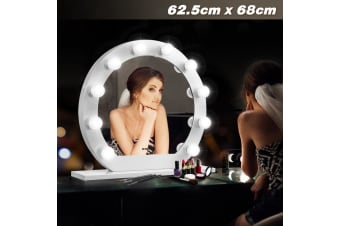 Maxkon Hollywood Makeup Mirror 10 LED Lights Vanity Mirror w/Dimmer Control