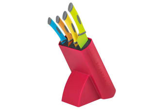 Scanpan Spectrum 5 pc Knife Block Set Coloured Stainless Steel Kitchen Knives