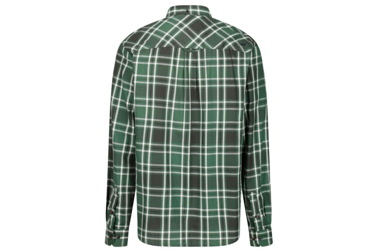 Regatta Great Outdoors Mens Lazare Long Sleeve Checked Shirt (Bayleaf) (XL)