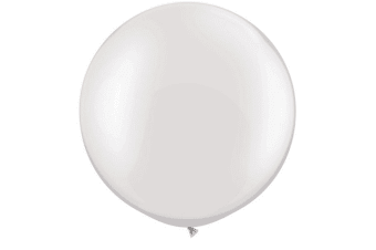 Qualatex 5 Inch Plain Latex Party Balloons (Pack Of 100) (48 Colours) (Pearl White)
