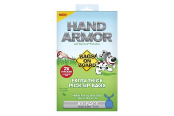 Bags On Board Hand Armor Extra Thick Dog Waste Bags (May Vary) (100 Bags)