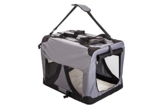 Portable Soft Dog Crate L - GREY