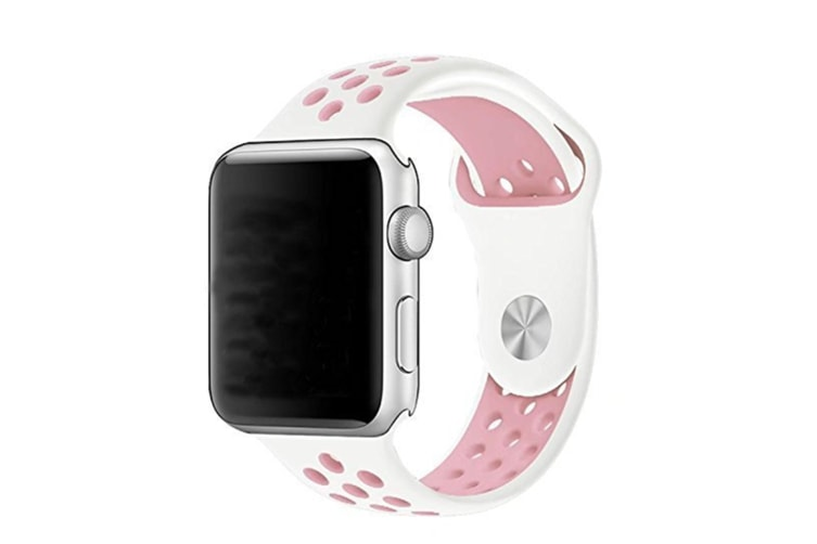 Soft Silicone Replacement Band For Apple Watch Series 3, Series 2, Series 1, Sport , Edition White Pink 42Mm
