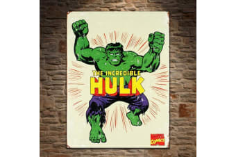 The Incredible Hulk Retro Tin Metal Sign 40.5 x 31.5cm