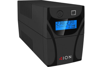ION F11 650VA Line Interactive Tower UPS, 2 x Australian 3 Pin outlets, 3yr