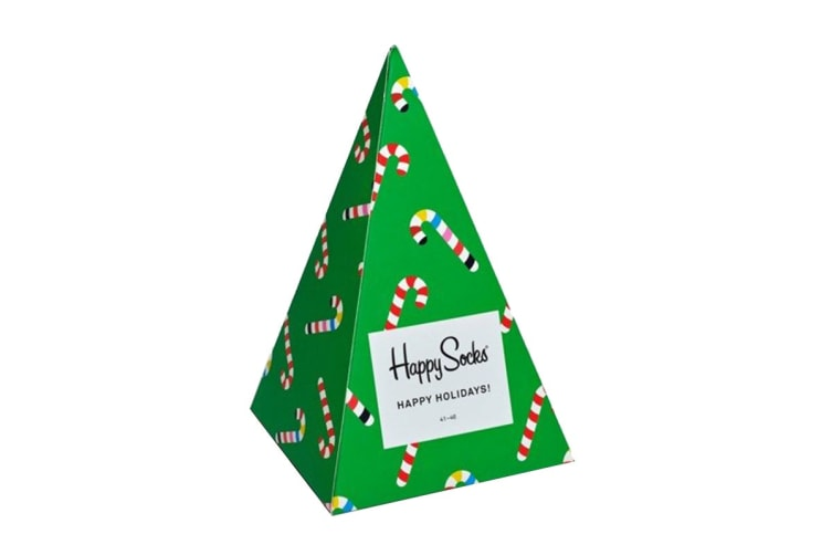 Happy Socks Holiday Tree Gift Box (Green/Red/White, Size 36-40)