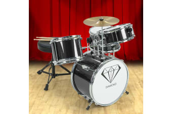 Children's 4pc Drum Kit - Black