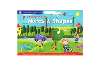 Early Learning Fun Sticker Activity Floor Pad - Words & Shapes