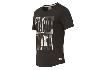 Hard Yakka Men's Graphic Camo Tee (Black Marle, Size S)