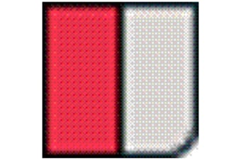 Transfers Heat-seal Chest Reflective Badges (Warden Red/ Red/ Silver) (One Size)