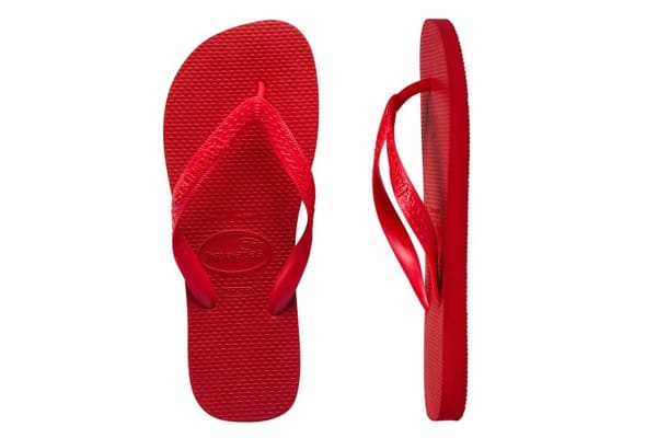 Havaianas Top Thongs (Ruby Red, Brazil 41/42)