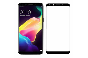 OPPO R11s Tempered Glass Full Coverage Crystal Clear Premium Edge-to-Edge 5D Screen Protector by MEZON (OPPO R11s, 5D Black)