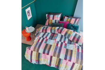 Playful Colours Multi Quilt Cover Set Queen