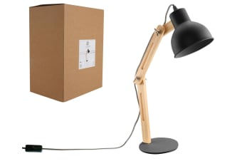 Luminite Ella Black Desk Lamp 37x15x45cm