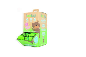 Beco Dog Waste Disposal Plastic Bags Single Roll Counter Top Display (Green) (One Size)