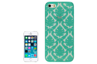 For iPhone SE 5S 5 Case Modern Mystical Flowers Durable Shielding Cover Green