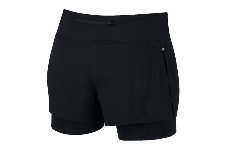 Nike Eclipse 2-in-1 Women's Running Shorts (Black, Size S)