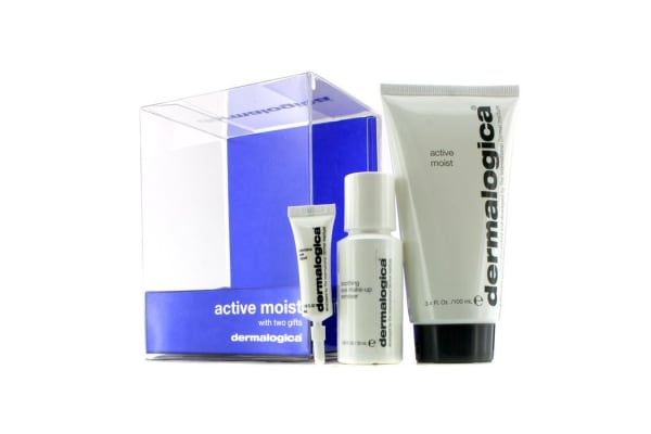 Dermalogica Active Moist Limited Edition Set: Active Moist 100ml + Eye Make-Up Remover 30ml + Eye Repair 4ml (3pcs)