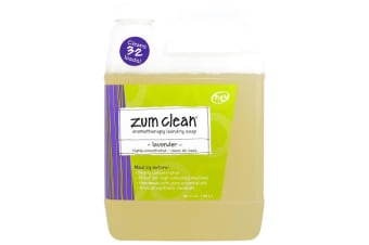 Indigo Wild Zum Clean Aromatherapy Highly Concentrated Handmade Essential Oils for Laundry & Machine Friendly Clothes Washing Soap - Lavender, 940ml