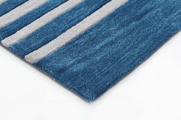 Modern Abrash Stripes Rug Blue Green 280x190cm