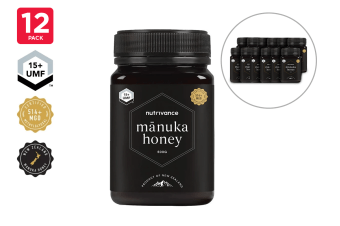 12 Pack - Manuka Honey UMF™ 15+ (500g, Nutrivance, Made In New Zealand)