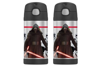 2PK Thermos Funtainer 355ml Insulated Stainless Steel Drink Bottle Star Wars Ren