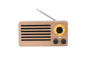 Bluetooth V2.1 +Edr Wireless Radio Stereo Speaker Rechargeable Usb Tf Fm Maple