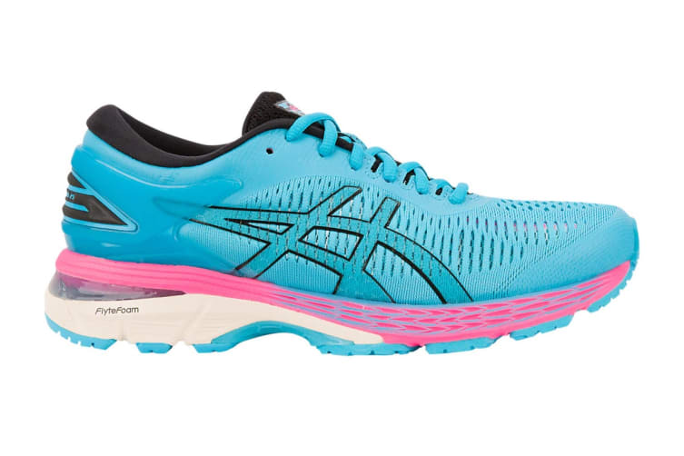 ASICS Women's Gel-Kayano 25 Running Shoe (Aquarium/Black, Size 9)