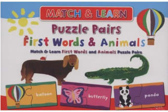 2 Drawer Learning Puzzle Pairs: First Words & Animals
