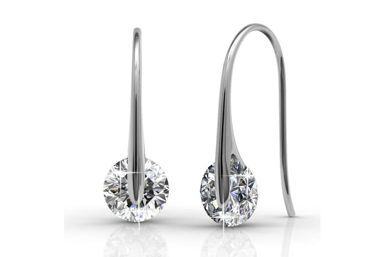 Crystal Earrings Embellished with Swarovski crystals