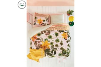 Botanical Flower Cotton Sateen Quilt Cover Set by Oilily