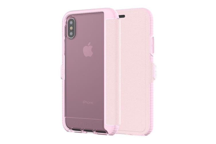 Tech21 Evo Wallet Case For iPhone X - Pink