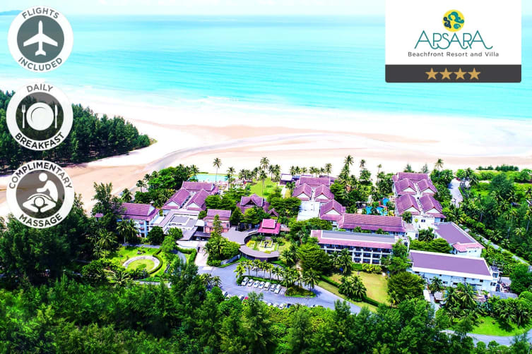 PHUKET: 7 Nights at Apsara Beachfront Resort Including Flights for Two (Departing ADL)