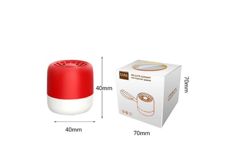 Select Mall Bluetooth Speaker Subwoofer Wireless Bluetooth Portable Smart Mini Speaker-Red