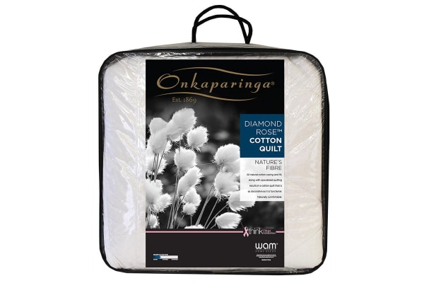 Onkaparinga Diamond Rose Cotton Quilt (Single)