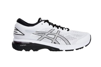 ASICS Men's Gel-Kayano 25 Running Shoe (White/Black, Size 7)