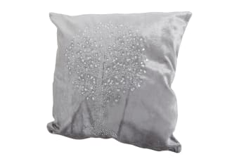 Panache Tree Design Sparkle Cushion Cover (Cushion Pad Not Included) (Grey)