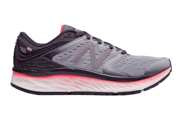 New Balance Women's Fresh Foam 1080v8 Running Shoe - D (Elderberry/Vivid Coral, Size 5.5)