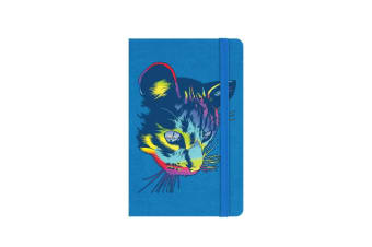 Unorthodox Collective Rainbow Cat A6 Hard Cover Notebook (Blue) (One Size)