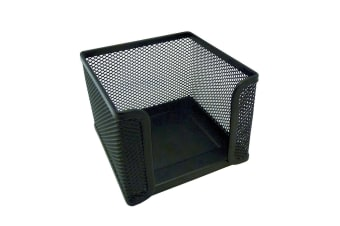 Esselte Home/Work Metal Mesh Memo/Notes Cube Holder Stationery Desk Organiser BK