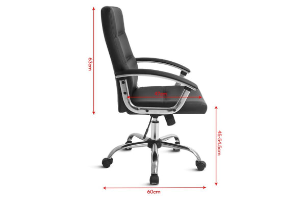 Ergolux Cambridge High Back Padded Office Chair