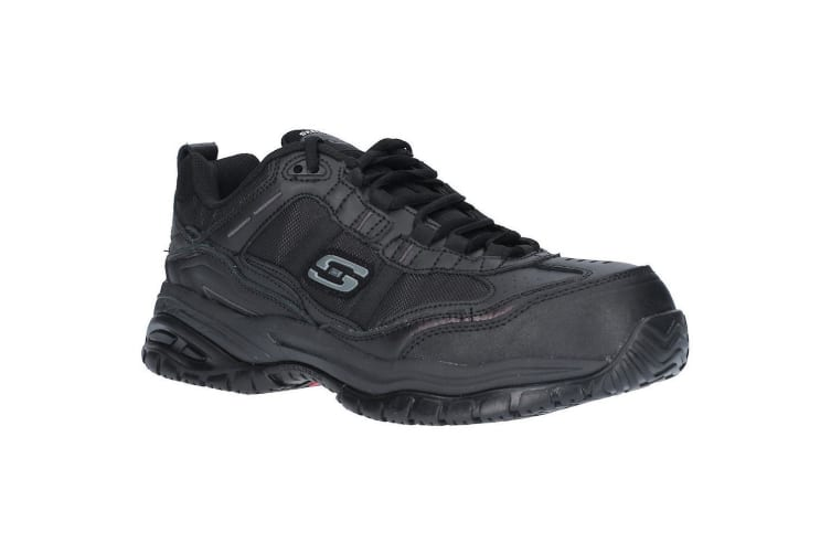 Skechers Mens Soft Stride Work Trainer (Black) (6 UK)