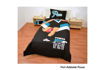AFL Footy Player Quilt Cover Set Single Port Adelaide Power