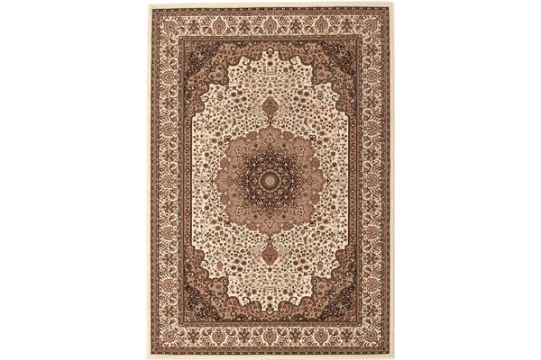 Stunning Formal Medallion Design Rug Cream 170x120cm