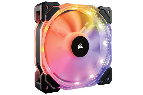 Corsair HD 140mm PWM RGB LED Fan with Controller. Twin Pack