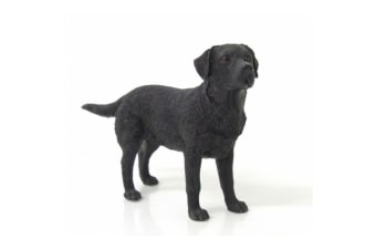 Black Labrador Dog Figurine (Black)