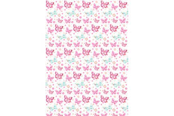 Simon Elvin 24 Sheets Traditional Female Gift Wraps (White/Pink)