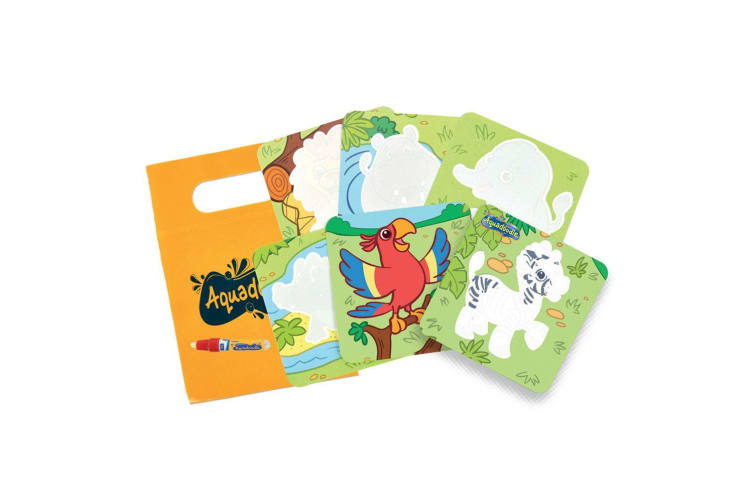 Tomy Aquadoodle Mini Mats Zoo Animals Water Drawing/Colouring/Activity/Kids/Toy