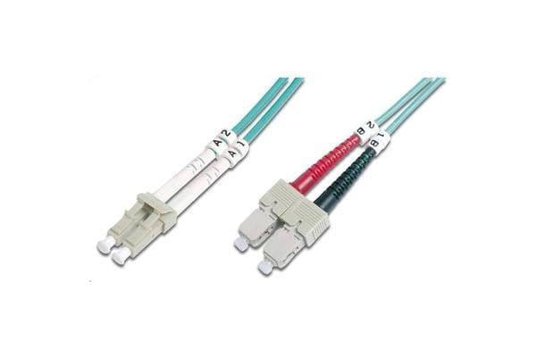 Digitus Fibre Cable LC/SC duplex MM 50/125um OM3, 10M