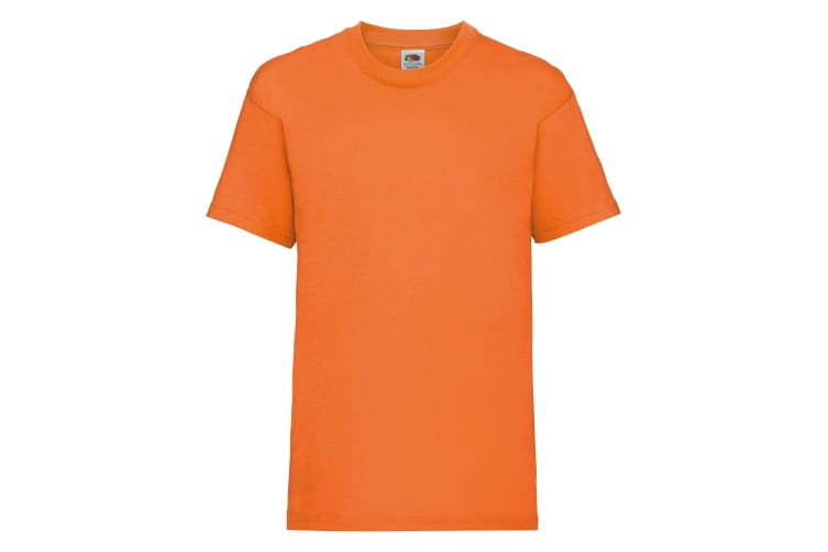 Fruit Of The Loom Childrens/Kids Unisex Valueweight Short Sleeve T-Shirt (Pack of 2) (Orange) (3-4)